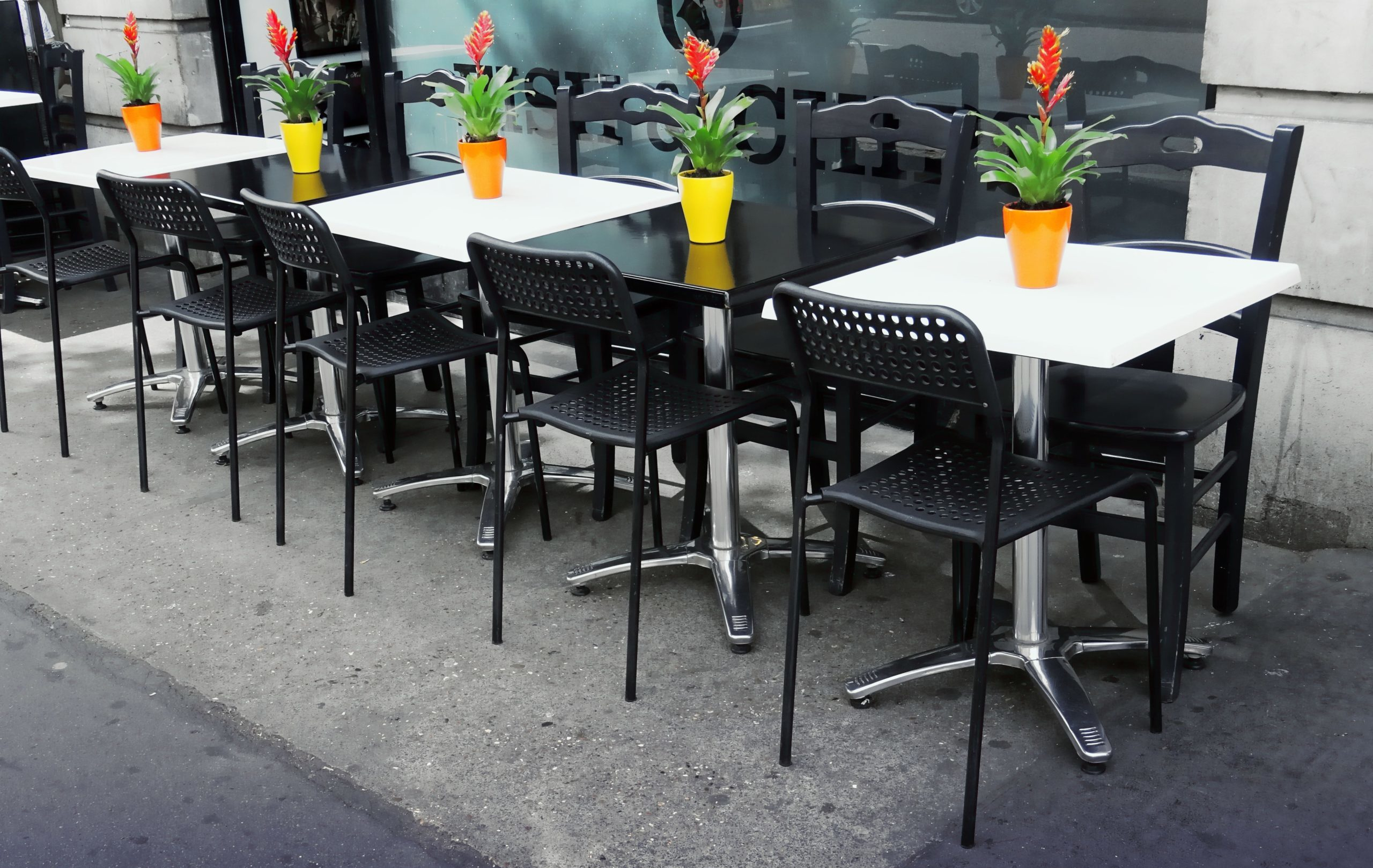Outdoor Patio with Tables